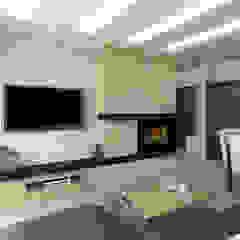 Mieszkanie w kremach i brązach Nowoczesny salon od All Design- Aleksandra Lepka Nowoczesny
