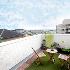 アンティーク家具と暮らすロフトのある家 地中海デザインの テラス の 遊友建築工房 地中海