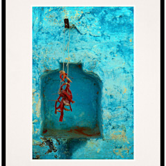 Red Chilli Alcove: rustic  by IndiPix,Rustic