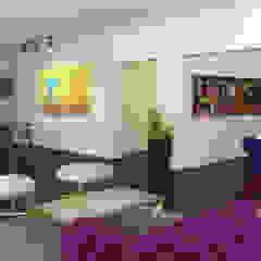 Living ampliado/ Comedor/ Mueble TV Livings de estilo ecléctico de KorteSa arquitectura Ecléctico