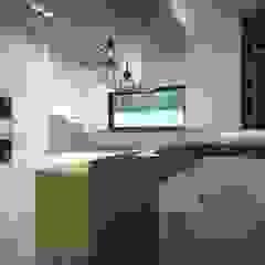 mieszkanie Wola, Warszawa Industrialna kuchnia od Kameleon - Kreatywne Studio Projektowania Wnętrz Industrialny