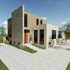 Ingreso Casas modernas: Ideas, imágenes y decoración de Florencia Tascón - Arquitecta Moderno Piedra