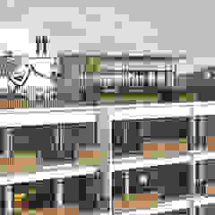 Edifício 2x3x4 Jardins industriais por TÉRREO arquitetos Industrial