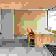 Minimalistische Küchen von La Desarrolladora Minimalistisch Massivholz Mehrfarbig