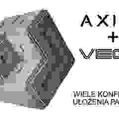 Panele 3D ZICARO - model AXIAL i VEGA od ZICARO - producent paneli 3D o strukturze betonu architektonicznego Minimalistyczny Ceramiczny