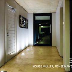 Modern Corridor, Hallway and Staircase by Coetzee Alberts Architects Modern