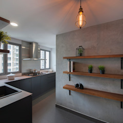 THE BELVEDERE Eclectic style kitchen by Eightytwo Pte Ltd Eclectic