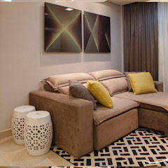 Apartamento N | H Salas multimídia modernas por Only Design de Interiores Moderno