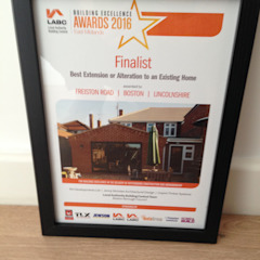 Finalist certificate by JMAD Architecture (previously known as Jenny McIntee Architectural Design)