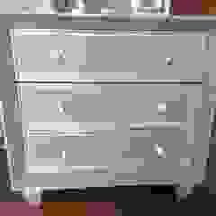 Estilo en muebles BedroomBedside tables Solid Wood Grey