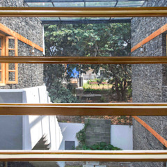 Indegenious House-Architect's house cum Residence,Dehradun Country style windows & doors by Manuj Agarwal Architects Country