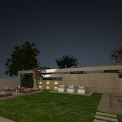 LANDSCAPE VIEW Modern Garden by De Panache - Interior Architects Modern Stone