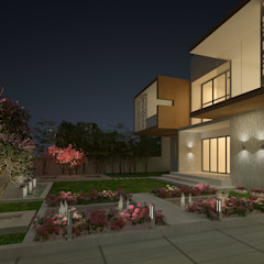 LANDSCAPE AREA VIEW Modern houses by De Panache - Interior Architects Modern