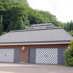 Country style garage/shed by homify Country Slate