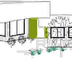 Fachada Principal Loft estudio C.A. Casas de estilo rural Ladrillos