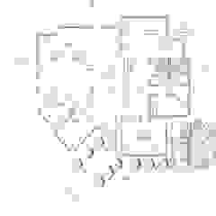 Planta de distribución Loft estudio C.A. Salas de estilo rural
