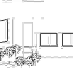 Fachada Principal Loft estudio C.A. Casas de estilo rural