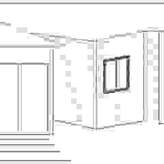Fachada Lateral Loft estudio C.A. Casas de estilo rural Ladrillos Blanco
