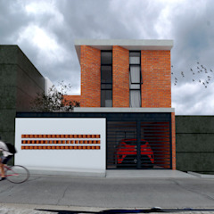 Vintark arquitectura บ้านและที่อยู่อาศัย อิฐหรือดินเผา Multicolored