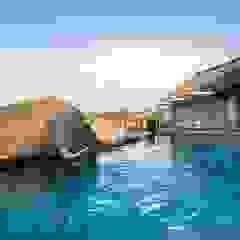 Mhondoro, een Lodge in Zuid-Afrika Moderne zwembaden van All-In Living Modern