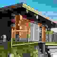 Nadbudowa Grzegorzowice Rustykalne domy od Organica Design & Build Rustykalny Drewno O efekcie drewna
