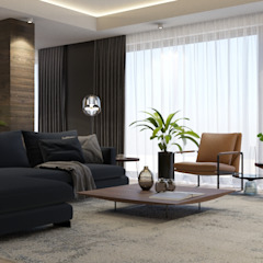 Modern villa proje Modern Oturma Odası FARGO DESIGNS Modern Ahşap Ahşap rengi