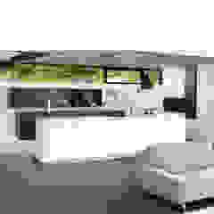 One wall, minimalist white kitchen with island Modern style kitchen by Schmidt Kitchens Barnet Modern MDF