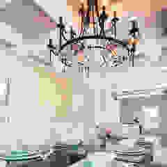 Random Chip Freshwater Mosaic Ceiling ShellShock Designs Modern dining room Tiles Multicolored