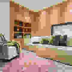 Renata Matos Arquitetura & Business ห้องมัลติมีเดียของตกแต่งและอุปกรณ์จิปาถะ ไม้ Wood effect