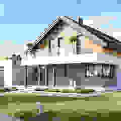 Projekt domu HomeKONCEPT-01 Nowoczesne domy od HomeKONCEPT | Projekty Domów Nowoczesnych Nowoczesny