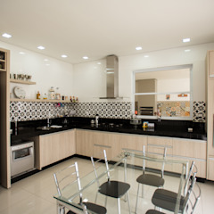 L2 Arquitetura Cocinas de estilo moderno Madera Beige
