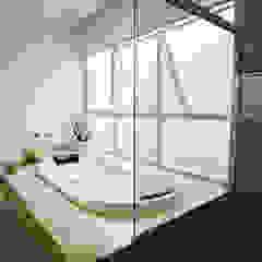 L2 Arquitetura Baños de estilo moderno Mármol Beige
