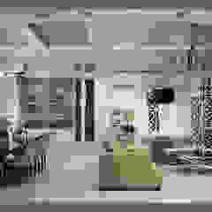 Квартира в Краснодаре - Изысканность стиля Гостиная-вариант 2 Classic corridor, hallway & stairs by СТУДИЯ 'ДА' ДАРЬИ АРХИПОВОЙ Classic Ceramic