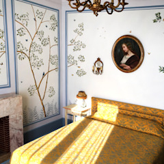 The renovation of Chambre Royale with Hand painted Wallpaper by Snijder&CO Класичний