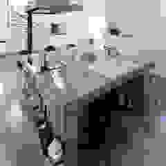 久保田正一建築研究所 Minimalist kitchen Concrete Grey