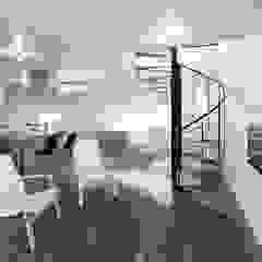 久保田正一建築研究所 Minimalist living room Concrete Grey