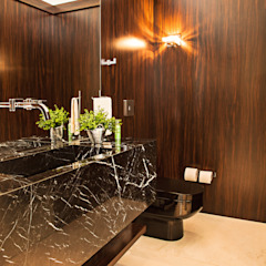 Studio Leonardo Muller Kamar Mandi Modern Marmer Brown