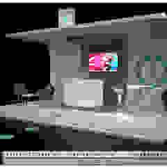 Visualización Arquitectónica (3D) Salones de eventos de estilo moderno de Mar de Cores estudio 3D Moderno