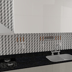 Кухня в стиле модерн от Carolina Mendonça Projetos de Arquitetura e Interiores LTDA Модерн