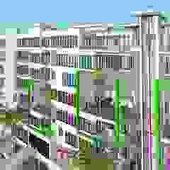Hyperrealistic Architectural Studio Casas modernas Ladrillos Blanco
