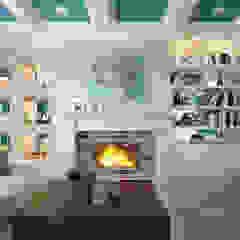 townhouse in modern style Modern Living Room by design studio by Mariya Rubleva Modern