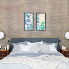 Modern New Home in Hampstead - master bedroom Black and Milk   Interior Design   London BedroomBeds & headboards