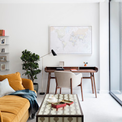 Modern New Home in Hampstead - Working corner Black and Milk   Interior Design   London Office spaces & stores