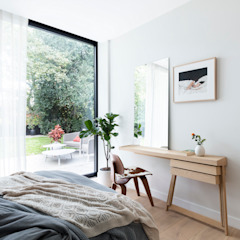 Modern New Home in Hampstead - guest bedroom Black and Milk   Interior Design   London BathroomMirrors