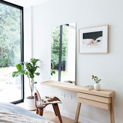 Modern New Home in Hampstead - guest bedroom Black and Milk   Interior Design   London BedroomDressing tables