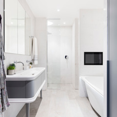 Modern New Home in Hampstead - master bathroom Black and Milk   Interior Design   London BathroomBathtubs & showers