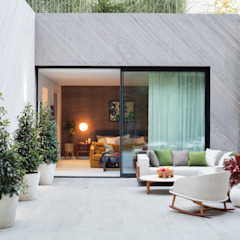 Modern New Home in Hampstead - patio Black and Milk   Interior Design   London Balconies, verandas & terraces Accessories & decoration
