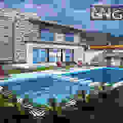 Casa A+ Jardines de estilo moderno de Grupo GANA, C.A. Moderno Ladrillos
