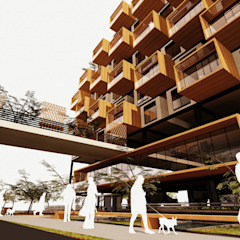 Moderne Häuser von AbiOS Estudio de Arquitectura Modern Holz Holznachbildung