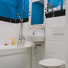 Hunter design Scandinavian style bathroom Blue